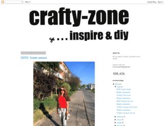 crafty-zone.blogspot.com screenshot