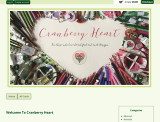 cranberryheart.co.uk screenshot