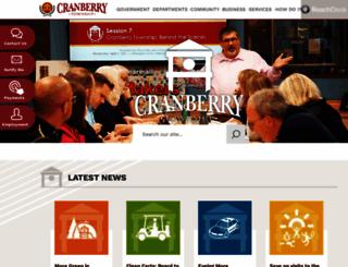 cranberrytownship.org screenshot