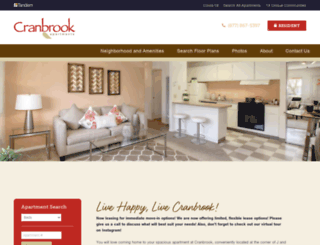 cranbrook.tandemproperties.com screenshot