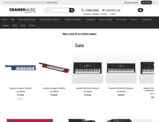 cranesmusic.com screenshot