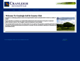 cranleigh.intelligentgolf.co.uk screenshot