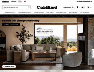 crateandbarrel.ca screenshot