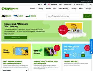 crazy.com.au screenshot