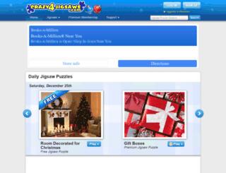 crazy4jigsaws.com screenshot