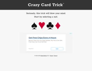 crazycardtrick.com screenshot