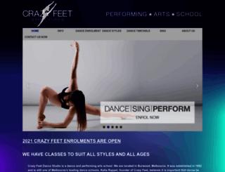 crazyfeetdance.com.au screenshot