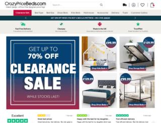 crazypricebeds.com screenshot