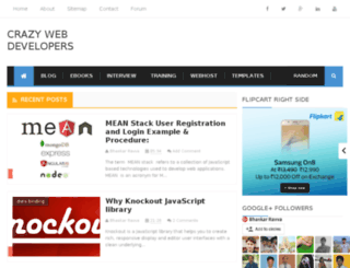 crazywebdevelopers.blogspot.in screenshot