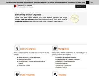 crear-empresas.com screenshot