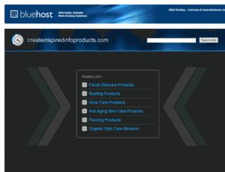 createinspiredinfoproducts.com screenshot