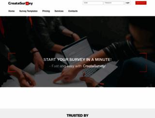 createsurvey.com screenshot