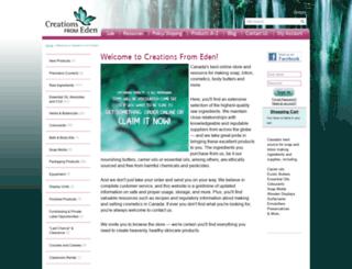 creationsfromeden.com screenshot