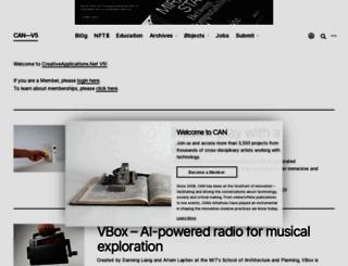 creativeapplications.net screenshot