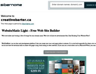 creativebarter.ca screenshot