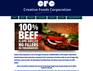 creativefoodscorp.com screenshot