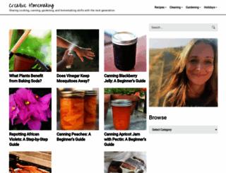 creativehomemaking.com screenshot