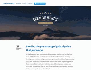 creativenightly.com screenshot
