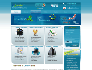 creativesites.in screenshot