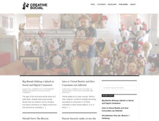 creativesocialblog.com screenshot