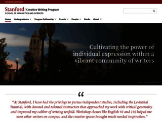 creativewriting.stanford.edu screenshot
