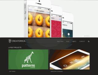 creatorica.com screenshot