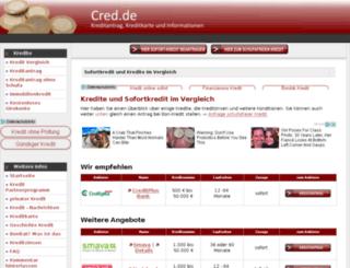 cred.de screenshot