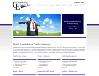 credentialingexperts.com screenshot