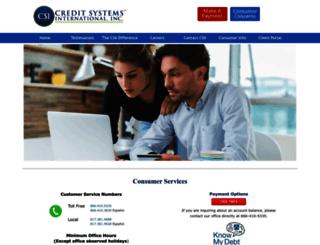 creditsystemsintl.com screenshot