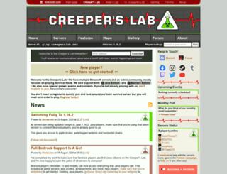 creeperslab.net screenshot