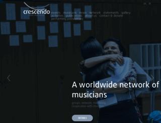 crescendo.org screenshot