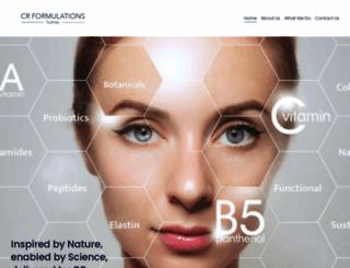 crformulations.com.au screenshot
