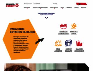 criancaeconsumo.org.br screenshot
