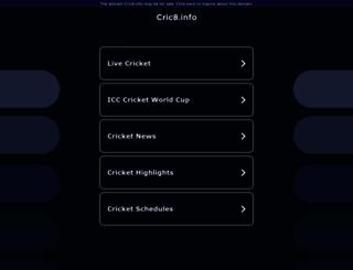 cric8.info screenshot