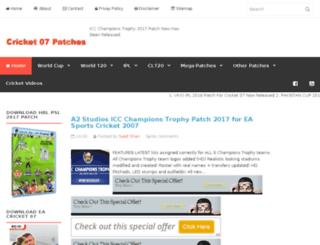 cricket-07-patches.blogspot.com screenshot