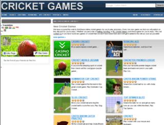 cricket-games.net screenshot