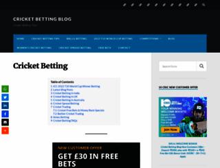 cricketbettingblog.com screenshot