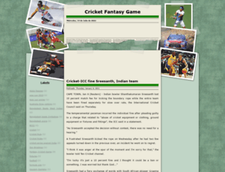 cricketfantasygame.blogspot.com screenshot