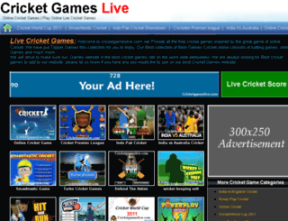 cricketgameslive.com screenshot