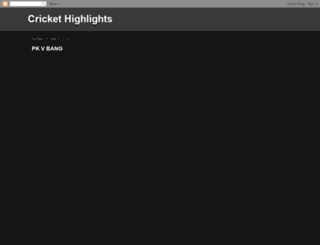 crickethighlightshut.blogspot.ie screenshot