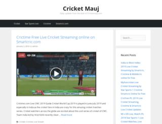 cricketmauj.com screenshot