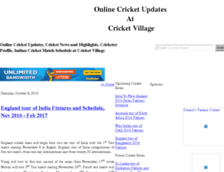 cricketvillage.blogspot.com screenshot