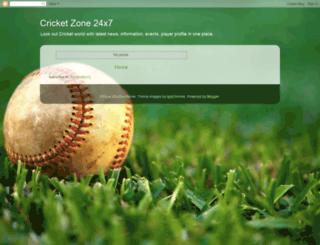 cricketzone24x7.blogspot.com screenshot