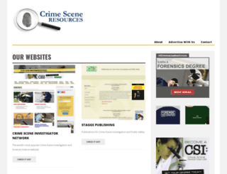 crimesceneresources.com screenshot