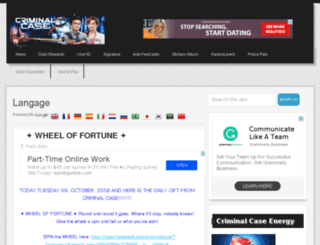 criminalcasebonus.com screenshot