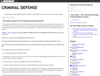 criminaldefenseblog.blogspot.com screenshot