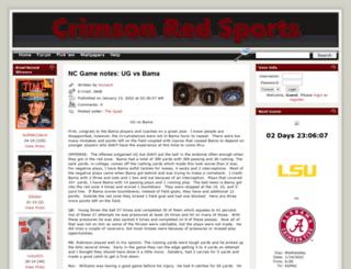 crimsonredsports.com screenshot