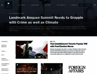 crisisgroup.org screenshot