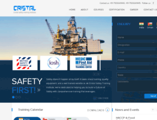cristalsafety.com screenshot