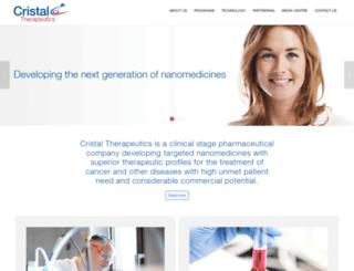 cristaltherapeutics.com screenshot